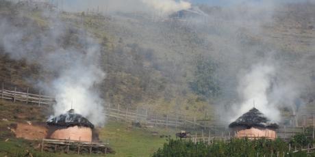 Les maisons sont brulées